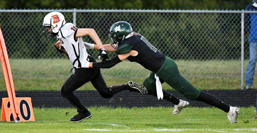 Brett Unrein has been one of Delano's playmakers so far this season. He and the Tigers will need to make some plays Friday night when they host Dassel-Cokato, which sits on top of the standings. Photo by Matt Kane