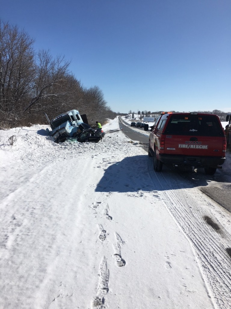 A crash involving a semi and passenger vehicle claimed the life of an 18-year-old woman from Delano.
