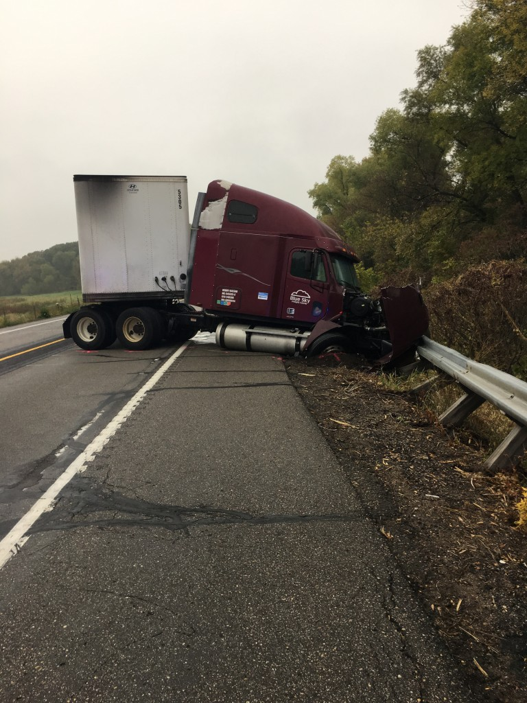 A crash involving a semi and two vehicles claimed the life of a Bloomington woman Friday afternoon.