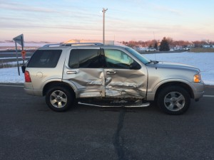 This 2004 Ford Explorer driven by Nicholas Sweeney, 33, of Waconia, pulled out in front of another vehicle on Highway 12, causing a crash at 7:25 a.m. Monday.