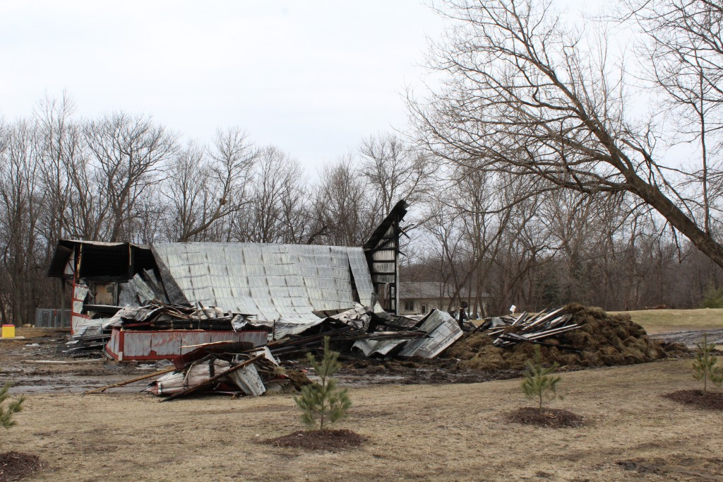 This barn at 2365 Nelson Rd., Independence, was a complete loss following an early morning fire Thursday.