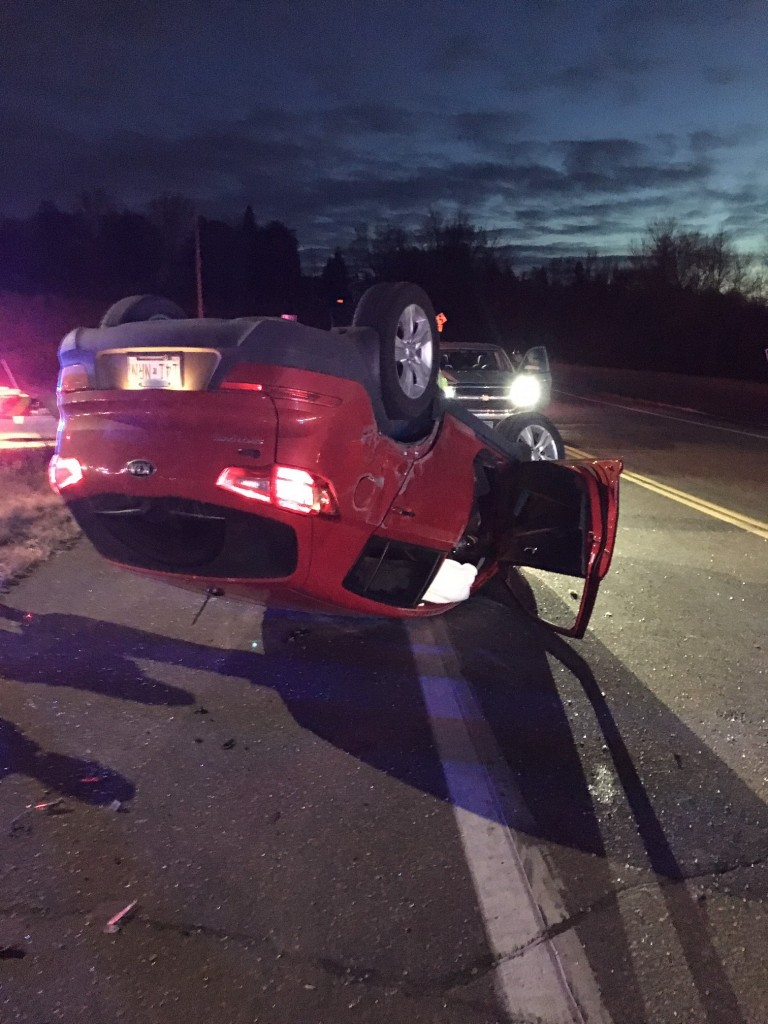 The occupant of this vehicle was not seriously injured in a crash on Highway 12 at the intersection with Hennepin County Road 90 Tuesday.