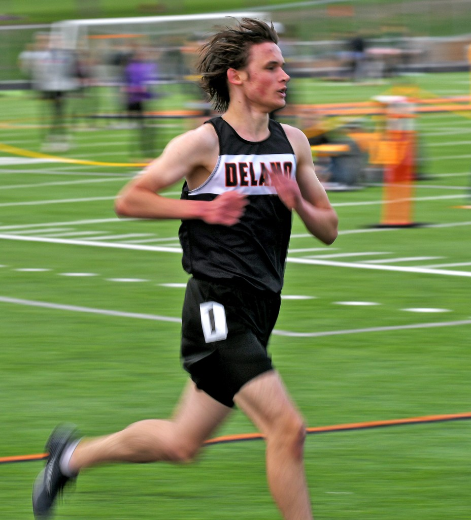 Cody Rieder is often a blur to opposing runners when he glides past them to the front of the pack. Photo by Matt Kane