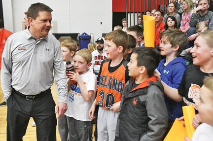 The boys basketball program at Delano has flourished since Techam became the head coach. He has led to the varsity team to a 181-81 record in nine seasons. Photo by Matt Kane