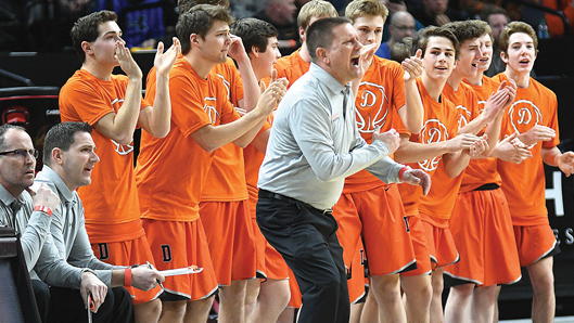 The championship season for Delano coach Terry Techam got even better this week when he was named the Class AAA Coach of the Year. Photo by Matt Kane