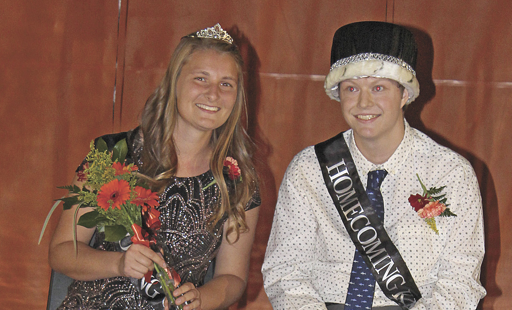 Anna Keranen and Jacob Praska were crowned Homecoming queen and king at Delano High School Friday.